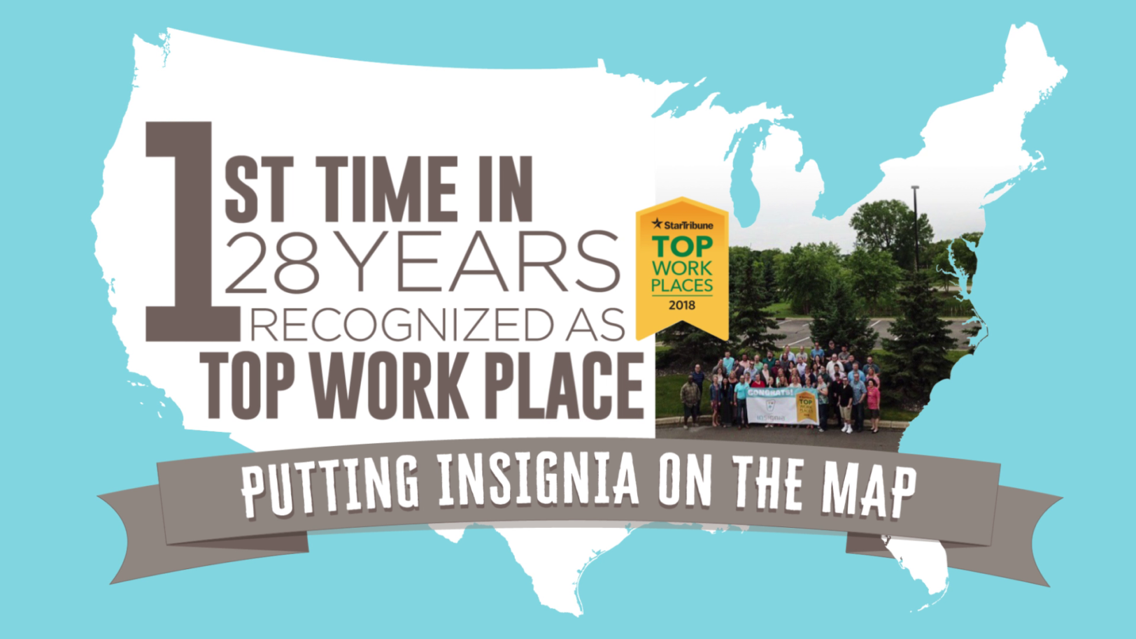 Insignia Systems in-store marketing, best places to work graphic