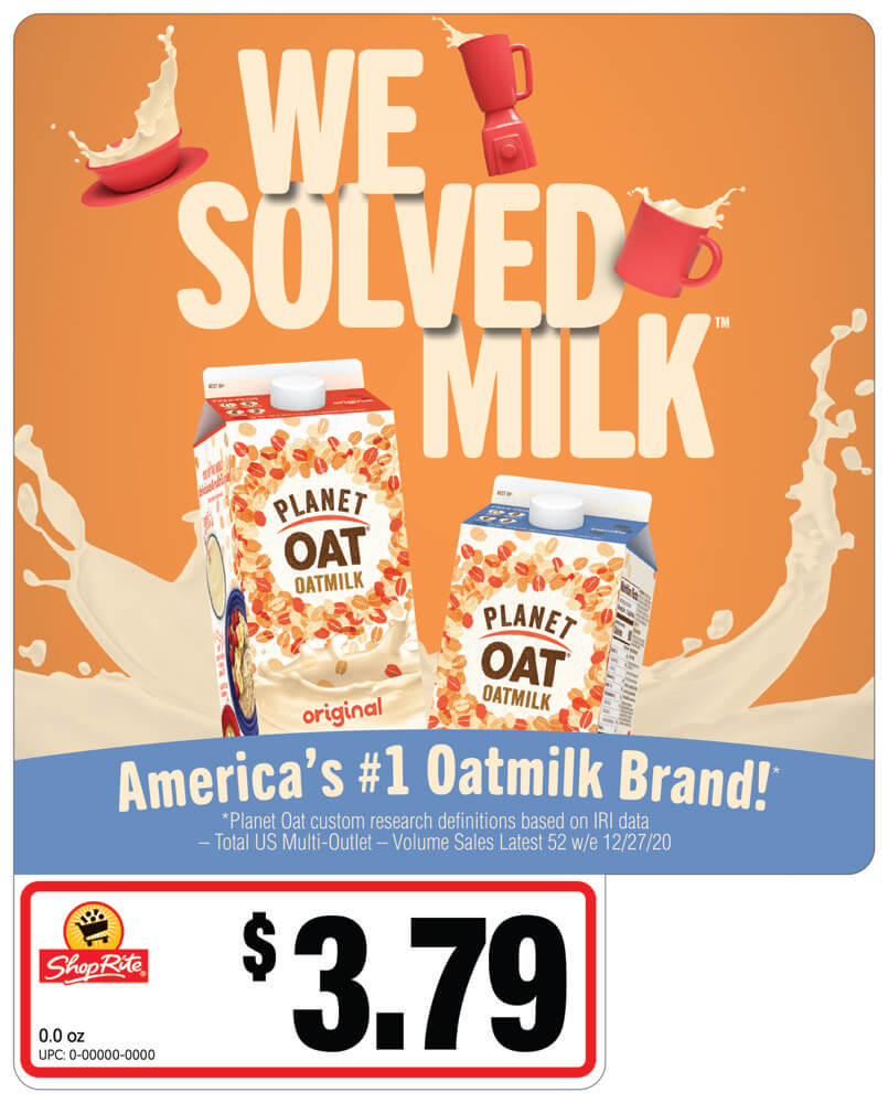 POPS® with Price for oat milk